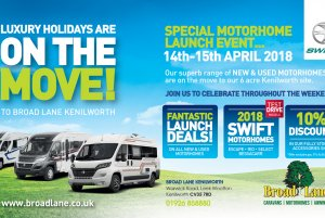 On the move - Motorhome Launch (Kenilworth)
